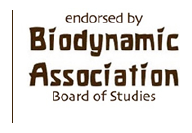 """Endorsed by Biodynamic Association Board of Studies"" logo"